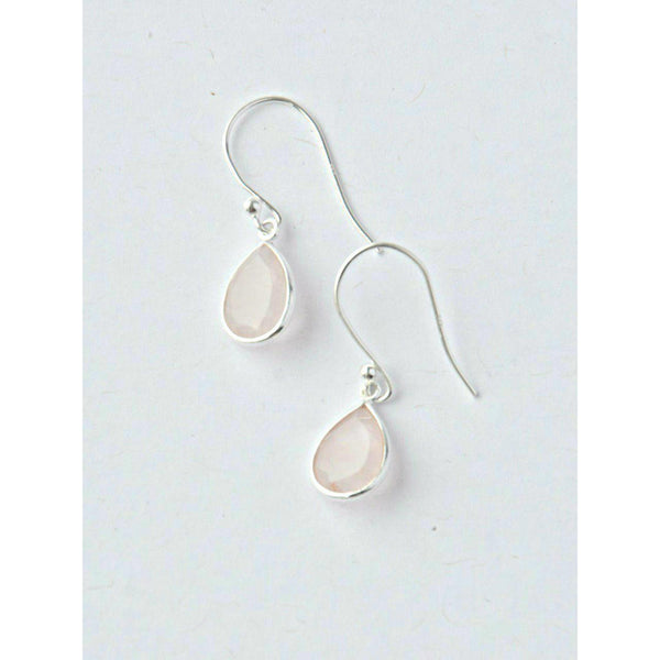8326d1911 Gift Ideas - Earrings Sterling Silver Raindrop Earrings in Rose Quartz ...
