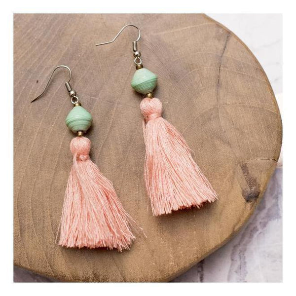 Gift Ideas -  Earrings Tassel Earrings in Mint or Peach