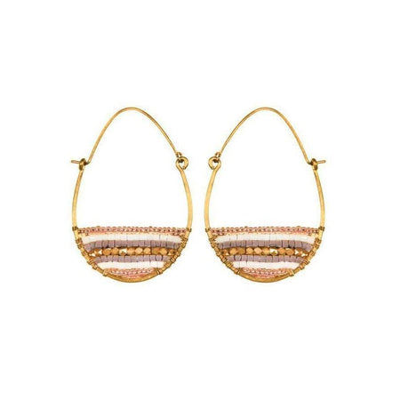 Ashram Window Earrings - Gold Patina