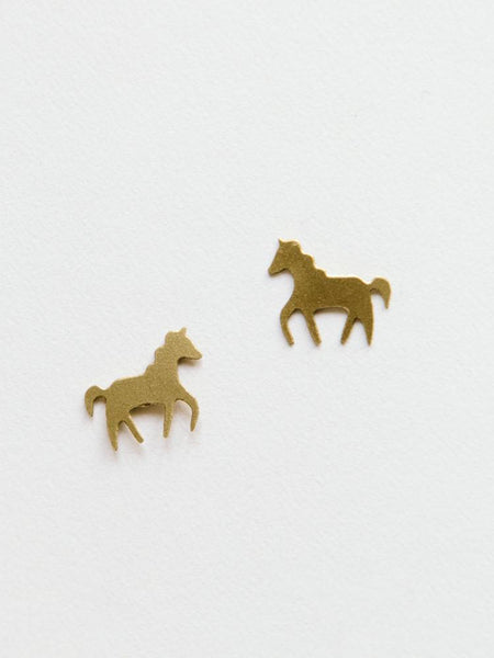 Gift Ideas -  Earrings Unicorn Studs in Gold