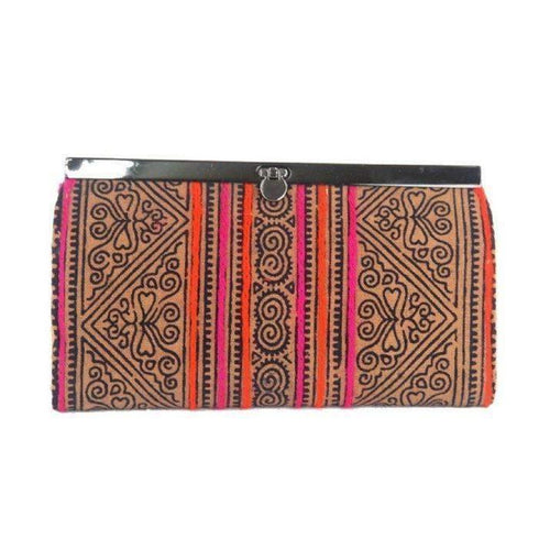 Gift Ideas -  Handbags + Clutches Hmong Batik Clutch - Earth