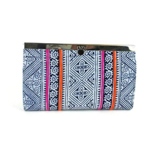 Gift Ideas -  Handbags + Clutches Hmong Batik Clutch - Indigo