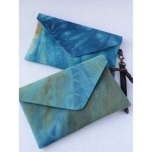 Gift Ideas -  Handbags + Clutches Ocean Waves Tie Dye Clutch