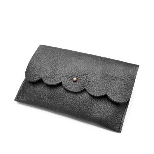Gift Ideas -  Handbags + Clutches The Paola Scallop Leather Clutch