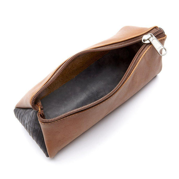 Gift Ideas -  Handbags + Clutches The Triangulo Leather Upcycled Tire Case