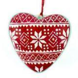 Gift Ideas -  Home Accents Kashmir Painted Heart Ornaments - 3 Designs