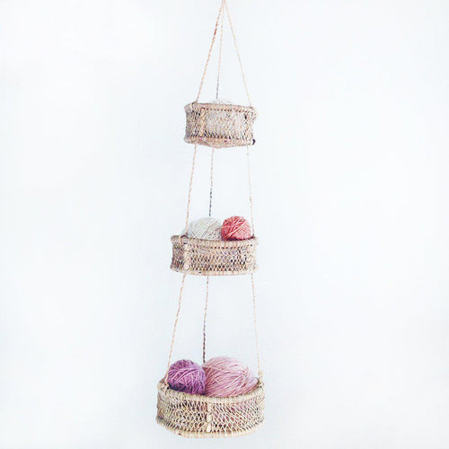Gift Ideas -  Home Accents Luna Handwoven 3-Tiered Tree Bark Basket