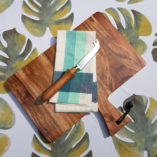 Gift Ideas -  Kitchen Acacia Wood Rectangle Serving Board with Handle