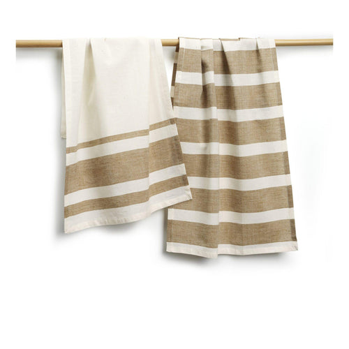 Gift Ideas -  Kitchen Cocoa Cotton Tea Towels - Set of Two