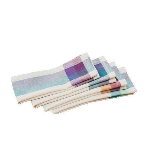 Gift Ideas -  Kitchen Cream Madras Cotton Napkins - Set of Four