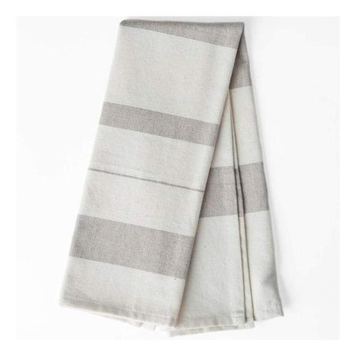 Gift Ideas -  Kitchen Grey Stripes Cotton Kitchen Towel