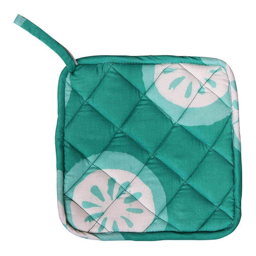 Hand Batiked Potholder - Shamrock Citrus - Good Gifts | Meaningful Gift Ideas