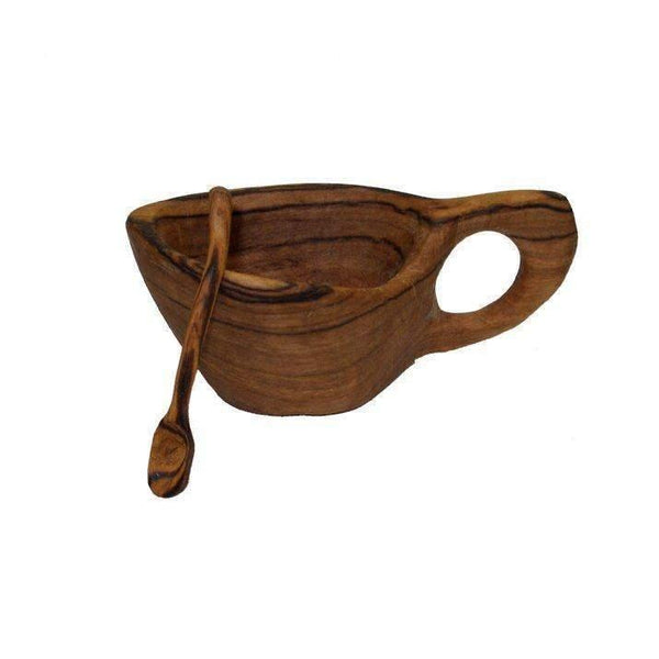Gift Ideas -  Kitchen Reclaimed Olive Wood Salt Pot