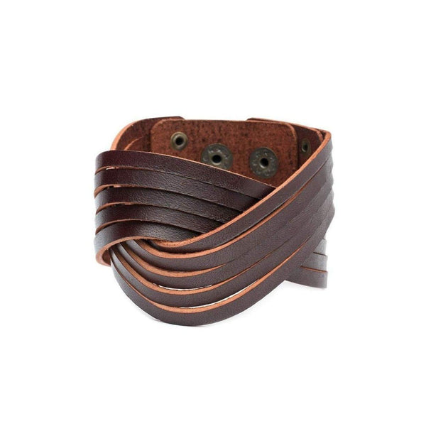 Gift Ideas -  Men's Jewelry Men's Atman Cuff - Brown