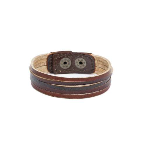 Gift Ideas -  Men's Jewelry Men's Bhumi's Bands Bracelet - Browns