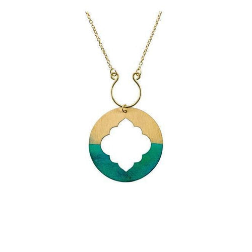Gift Ideas -  Necklaces Ashram Window Necklace - Gold Patina