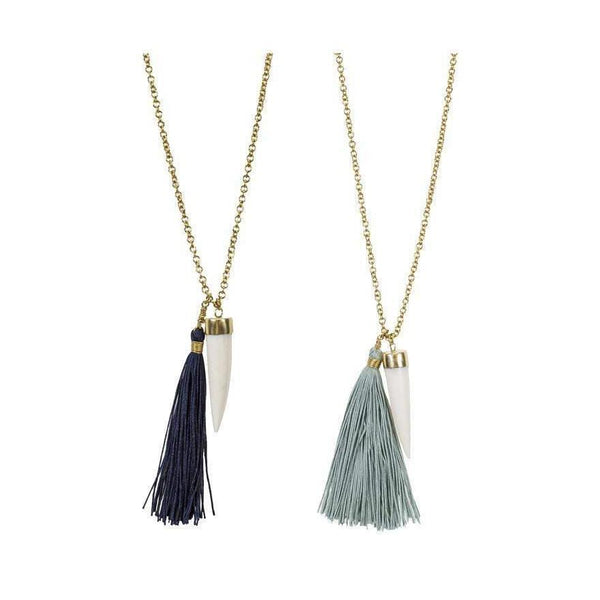 Gift Ideas -  Necklaces Bahari Tassel Necklace - Turquoise or Mint