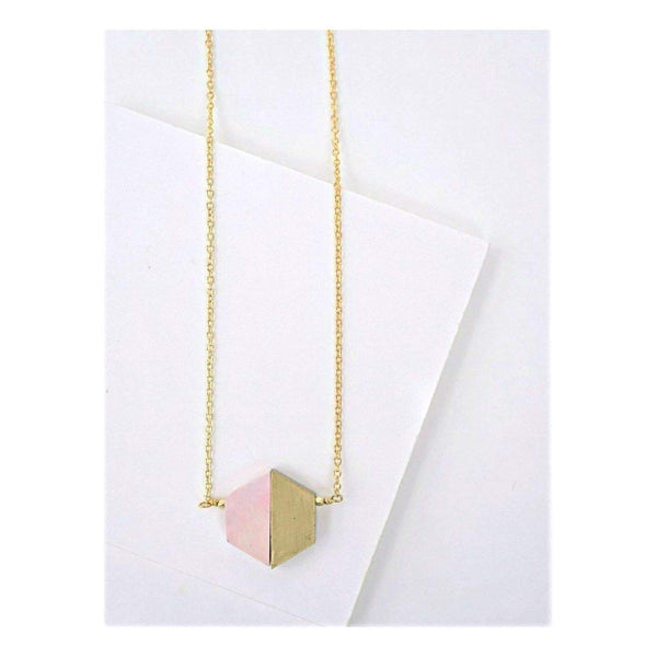 Gift Ideas -  Necklaces Balanced Geometry Necklace - Blue or Pink