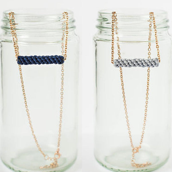Gift Ideas -  Necklaces Bar of Courage Necklace - Navy or Grey