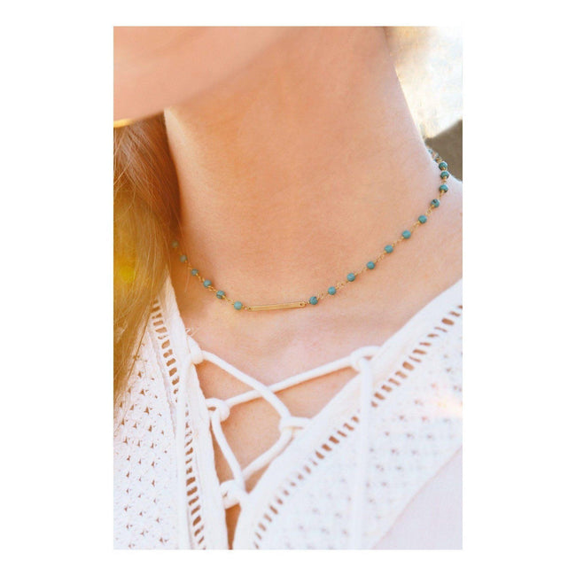 Gift Ideas -  Necklaces Coastal Choker - Black or Turquoise