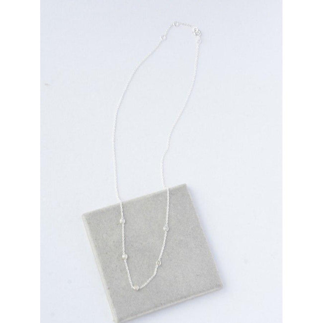 Gift Ideas -  Necklaces Delicate Pearl Sterling Necklace