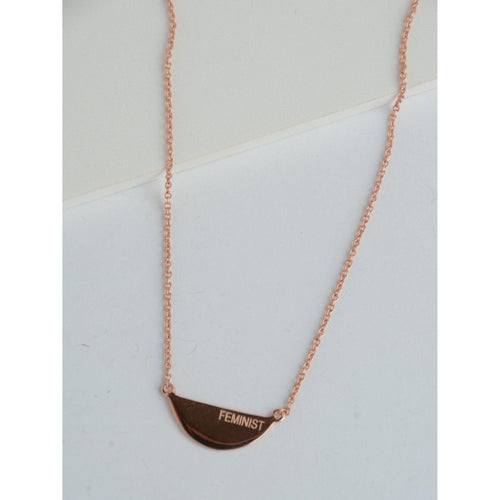 Gift Ideas -  Necklaces Fair Feminist Rose Gold Necklace