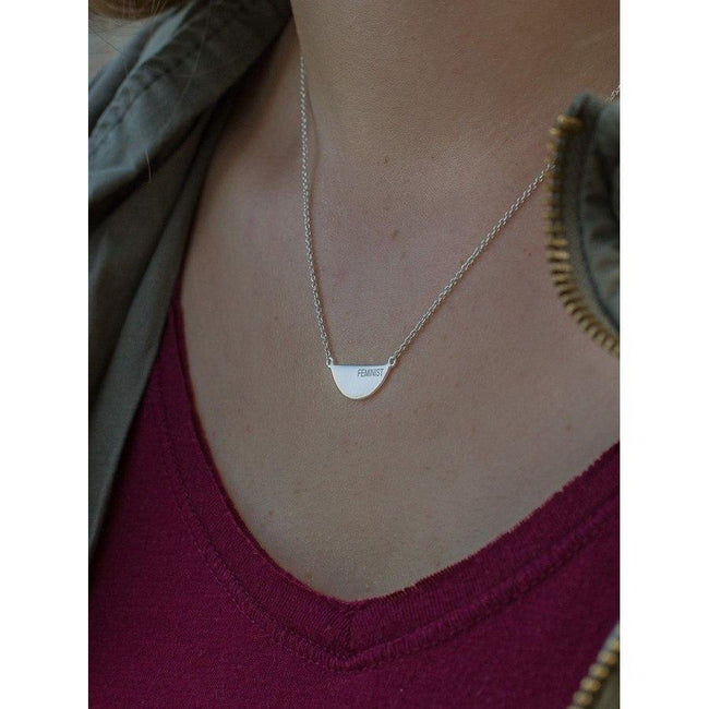 Gift Ideas -  Necklaces Fair Feminist Sterling Silver Necklace