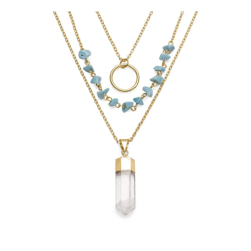 Gift Ideas -  Necklaces Indira Cascade Crystal Necklace