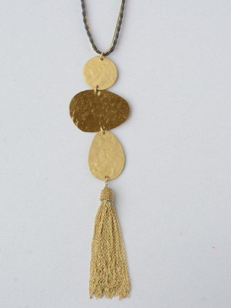 Knotted Fringe Earrings in Gold