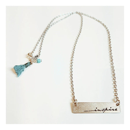Balanced Geometry Necklace - Blue or Pink