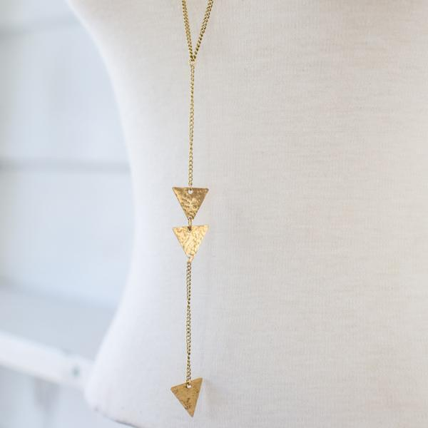 Gift Ideas -  Necklaces Long Arrow Necklace - Brass