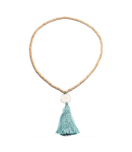 Rishima Druzy Drop Necklace - Citrine, White, Dark Blue, or Light Blue