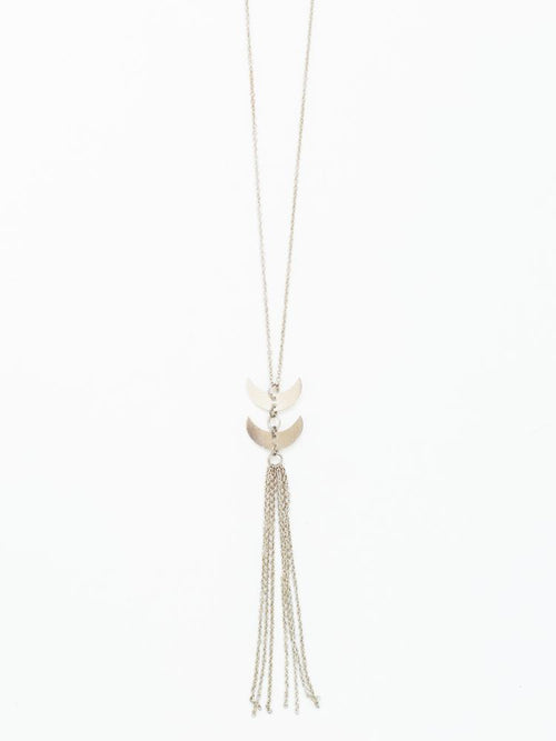 Gift Ideas -  Necklaces Twilight Tassel Necklace - Silver-Toned