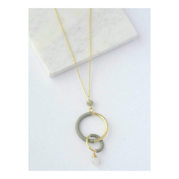 Gift Ideas -  Necklaces Wrapped Rings Necklace