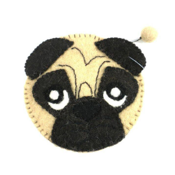 Gift Ideas -  Pretend + Dress Up Pug Felt Coin Purse