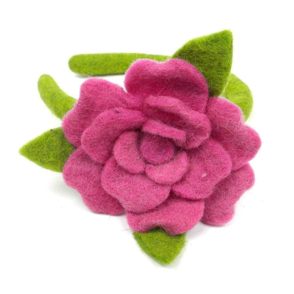 Gift Ideas -  Pretend + Dress Up Rose Felt Pink Headband