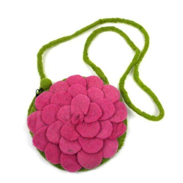 Gift Ideas -  Pretend + Dress Up Rose Felt Pink Purse