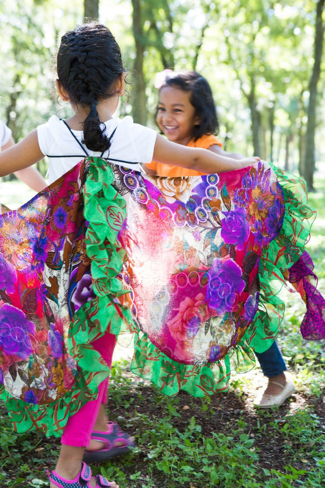Gift Ideas -  Pretend + Dress Up Upcycled Sari Butterfly Wings - Assorted