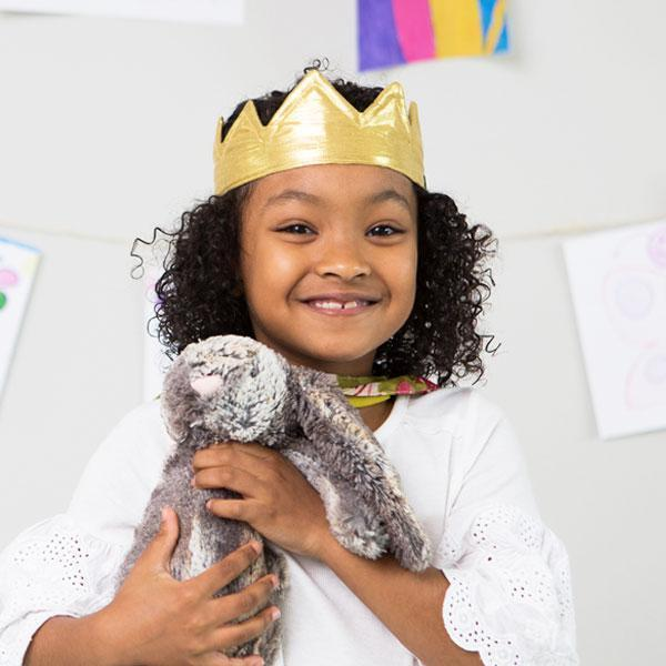 Gift Ideas -  Pretend + Dress Up Upcycled Sari Lila Crown for Pretend Play