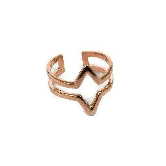 Gift Ideas -  Rings 18k Rose Gold Coated Adjustable Ring