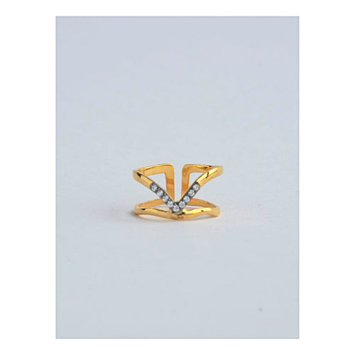 Gift Ideas -  Rings Studded Arrow Ring in 18k Gold Coated Sterling Silver