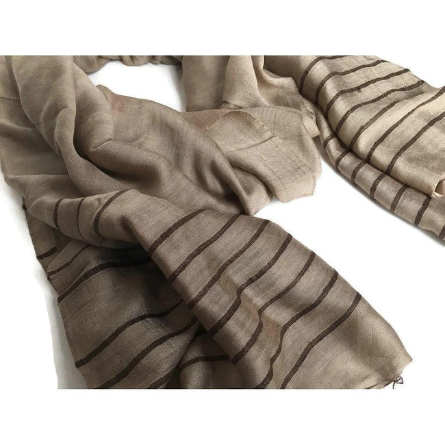 Gift Ideas -  Scarves + Wraps Anh Striped Scarf - Sand