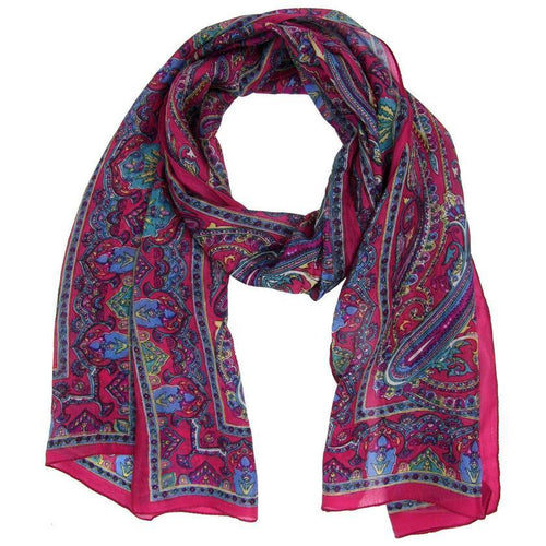 Gift Ideas -  Scarves + Wraps Aruna Silk Scarf - Blue