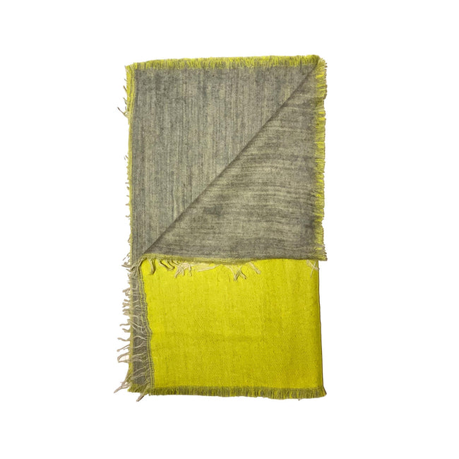 Gift Ideas -  Scarves + Wraps Blanket Scarf in Lime and Grey