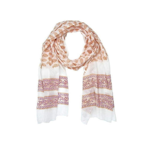 Gift Ideas -  Scarves + Wraps The Printmaker Scarf - Clay