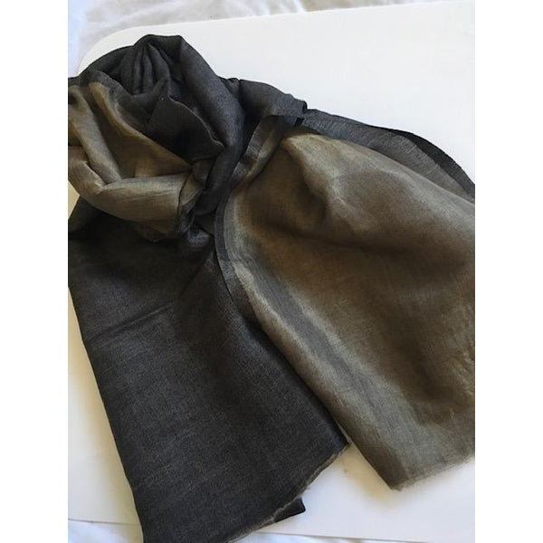 Gift Ideas -  Scarves + Wraps Zari Silk Scarf in Black