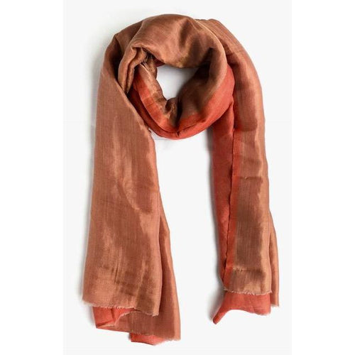Gift Ideas -  Scarves + Wraps Zari Silk Scarf in Copper