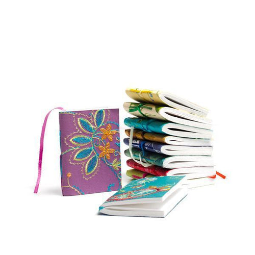 Gift Ideas -  Stationery + Office Recycled Cotton Paper Mini Notebooks