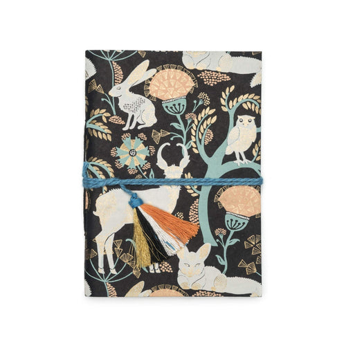Gift Ideas -  Stationery + Office Recycled Cotton Paper (Tree Free) Journal - Brown Brama Fauna