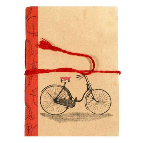 Gift Ideas -  Stationery + Office Vintage Journal - Bicycle